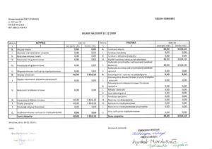 Bilans 2009