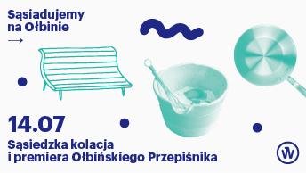 Sąsiedzka kolacja i premiera Ołbińskiego Przepiśnika - plakat.